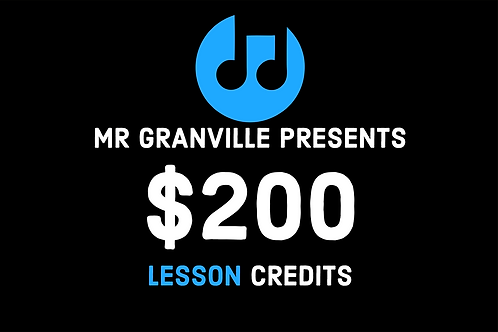 Private Music Lesson Gift Card $200