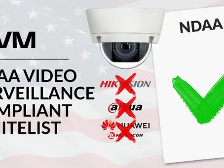 Liste blanche de vidéosurveillance conforme NDAA - Rapport d'IPVM
