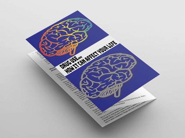 drug use brochure concept design