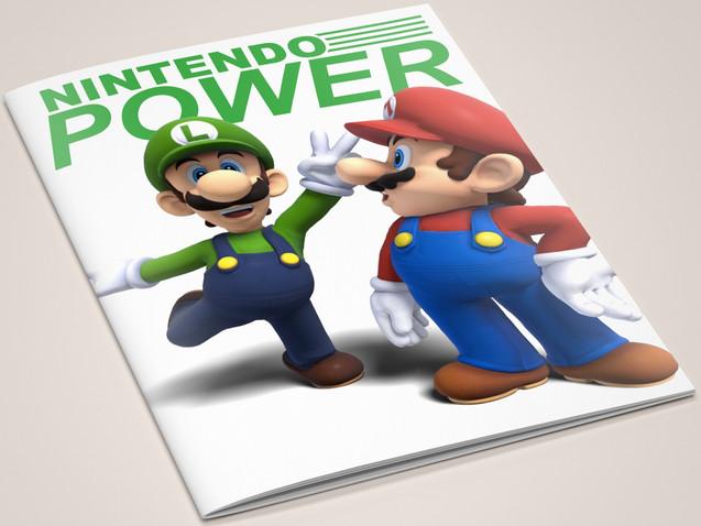 nintendo power concept design for magazine cover