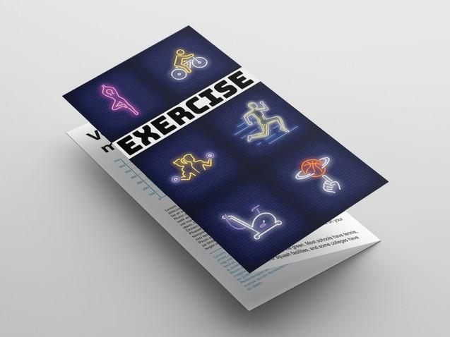 Exercise brochure concept design
