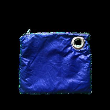 Pochette voile parachute upcyclée bleu