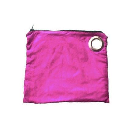 Pochette voile parachute upcyclée rose