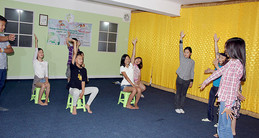 Youth theater class in Mongolia 2015