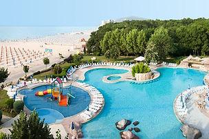Hotelaussicht auf Pool und Strad von Albena