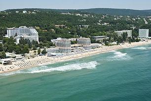 Luftaufnahme vom Strand in Hl. Konstantin und Elena