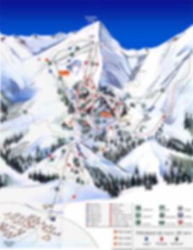 Pistenübersicht vom Skigebiet in Bansko