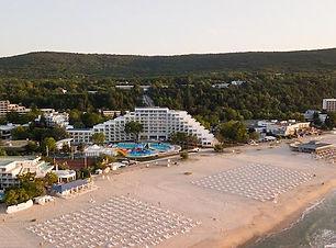 Luftaufnahme vom Strand in Albena