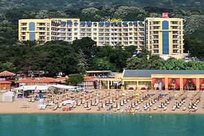 Blick auf da Grifid Arabella Hotel am Goldstrand in Bulgarien