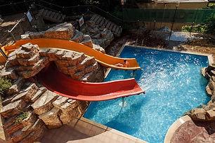 Wasserrutsche vom Atlas Hotel am Golstrand