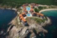 Luftaufnahme auf eine Hotelanlage in Sozopol