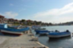 Hafen mit Fischerbooten in Nessebar