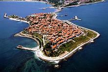 Luftaufnahme der Altstadt von Nessebar