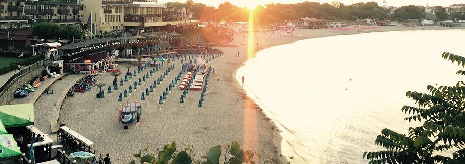 Sonnenuntergang a Strand in Bulgarien