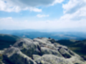 Panoramblick über das Gebirge in Bulgarien