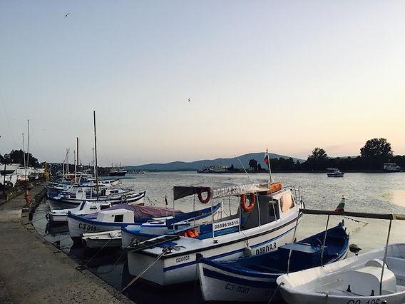 Fischerboote im Hafen von Sozopol