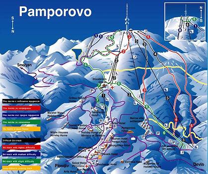 Pistenübrsicht im Skigebiet Pamporovo