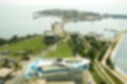 Luftaufnahme der Halbinsel von Nessebar