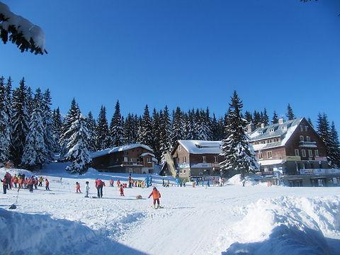 Skihüte im Skigebiet Bulgarien