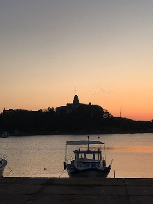 Ficheboot bei Sonnenuntergang