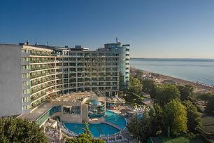 Blick auf das Marina Grand Beach Hotel Hotelzimmer am Goldstrand in Bulgarien