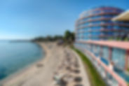 Hotel und Strand in Bulgarien