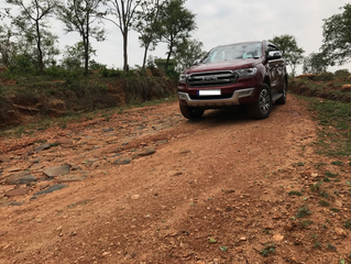 The Raakshas comes home - a.k.a. Ford Endeavour.