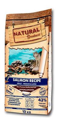 Receta salmón (normal y mini) - Pienso para perro