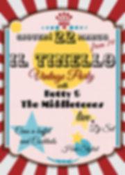 Il Tinello Vintage party, 22 MARZO from 19 to 00.00, E' la tua occasione per assaggiare tutte le prelibatezze che la cucina del TINELLO vi propone, per ascoltare dal vivo i Ketty & The Middle Tones, per ballare e divertirvi in una cornice vintage e suggestiva come quella del Ristorante Il Tinello Fine Dinner Vicenza, aspettando che la bella stagione ci permetta di aprire la terrazza estiva!