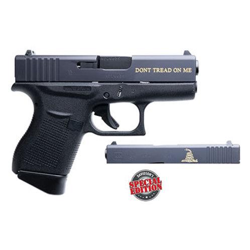 Glock G43 GADSDEN Engraved 9MM Semi Auto Pistol