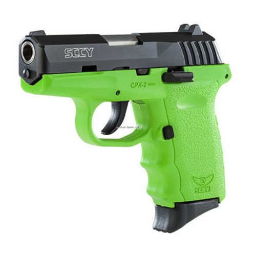 SCCY 9MM Pistol Lime Green Frame