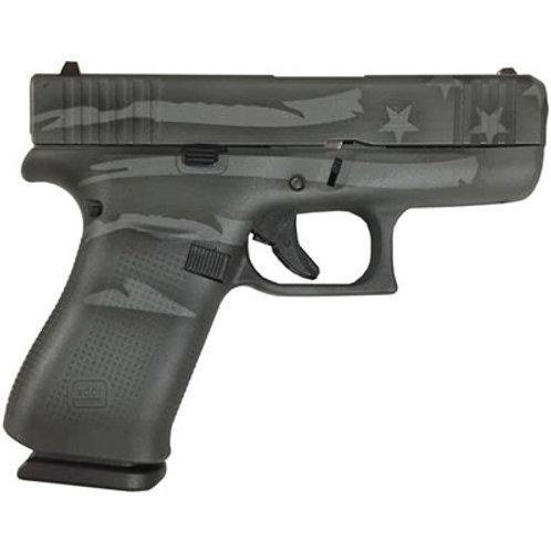 Glock G43X Battleworn Flag 9MM Auto Pistol