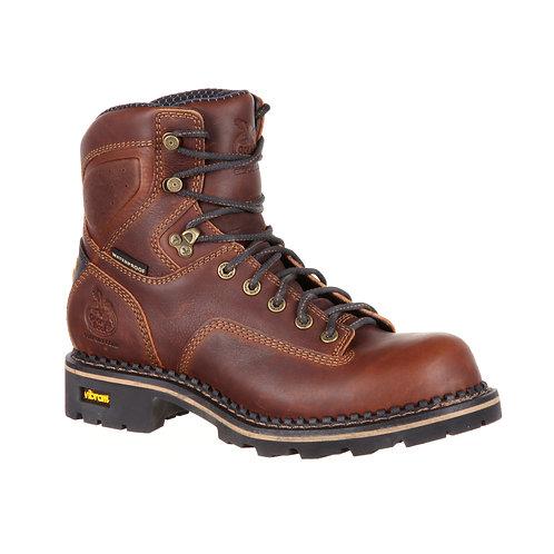 Georgia Waterproof Low Heel Logger Boot