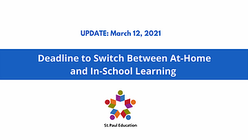 Deadline to Switch Between At-Home and In-School Learning
