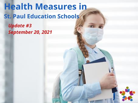 Update #3: Health Measures in St. Paul Education Schools