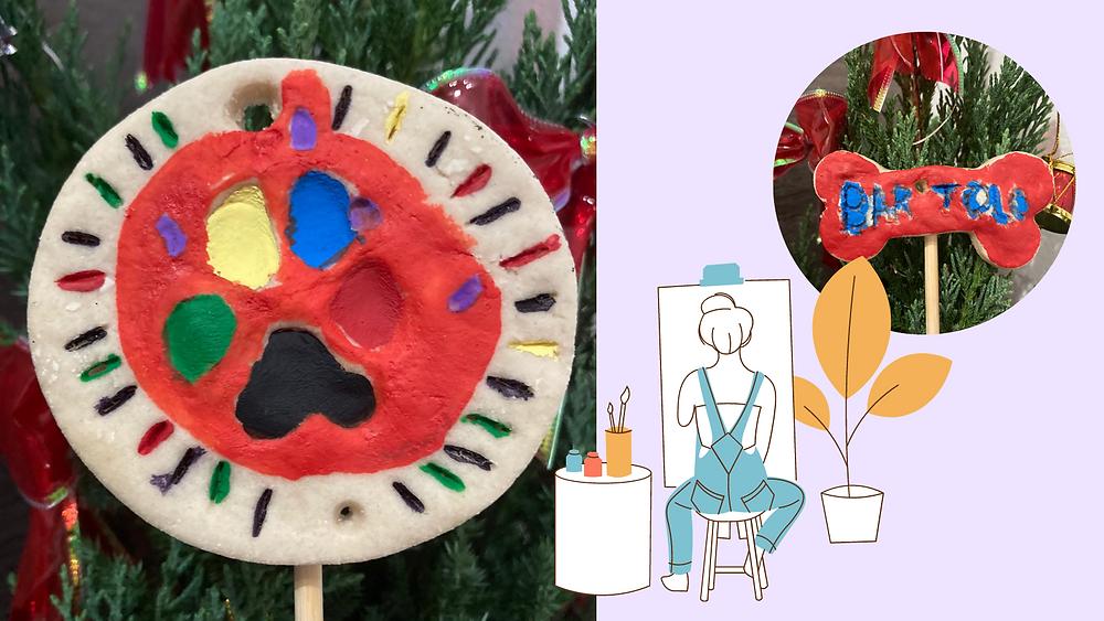 Painting the DIY pet keepsake ornaments