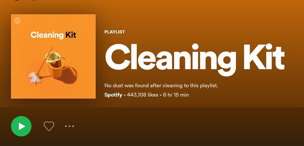 """A spotify playlist """"cleaning kit"""" to help you get through the process of removing fleas from your home"""