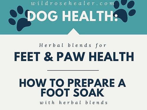 HERBAL BLENDS FOR FEET AND PAW CARE