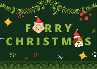 24 FREE TO PERSONALIZE AND DOWNLOAD PET THEMED CHRISTMAS CARDS
