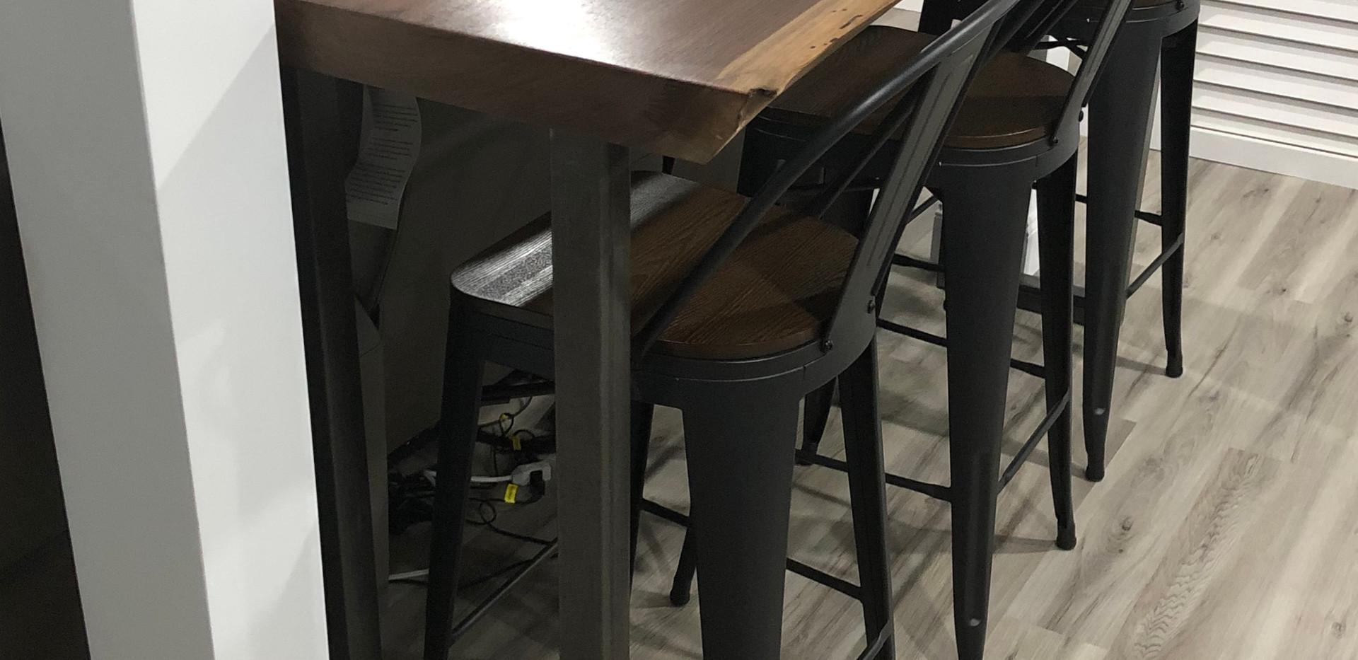 Fortuna Live Edge Walnut Bar Table