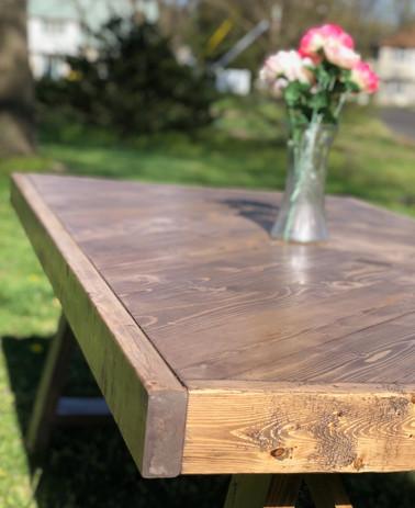 Violet Farmhouse Table Herringbone