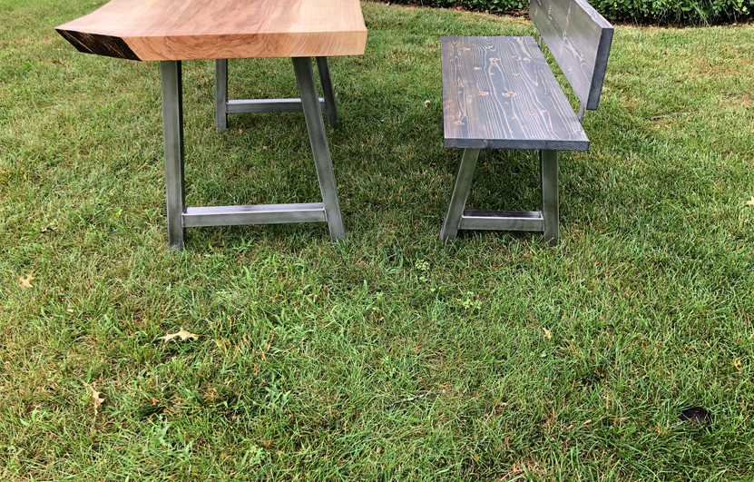 FAROE LIVE EDGE FARMHOUSE TABLE & STARBOARD BENCH