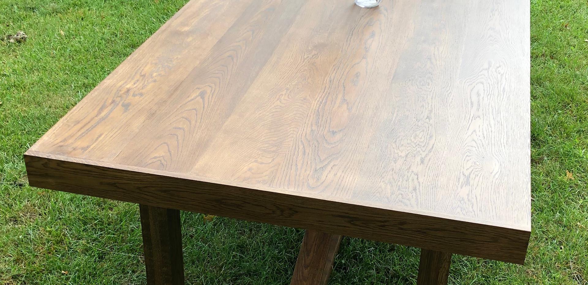 Vedic Solid Oak Farmhouse Table