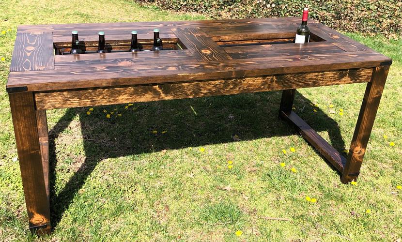 Barley Farmhouse Beer Cooler Table