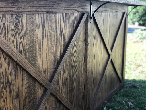 Woodley Custom Farmhouse Oak Bar