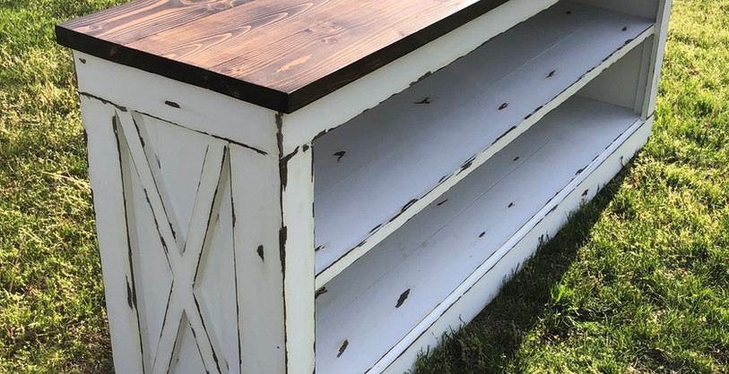 IMG_3829.jpegMaro Farmhouse Console Paneling Distressed X