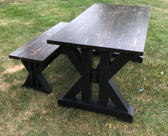 L'Océan Farmhouse Table & Bench Set