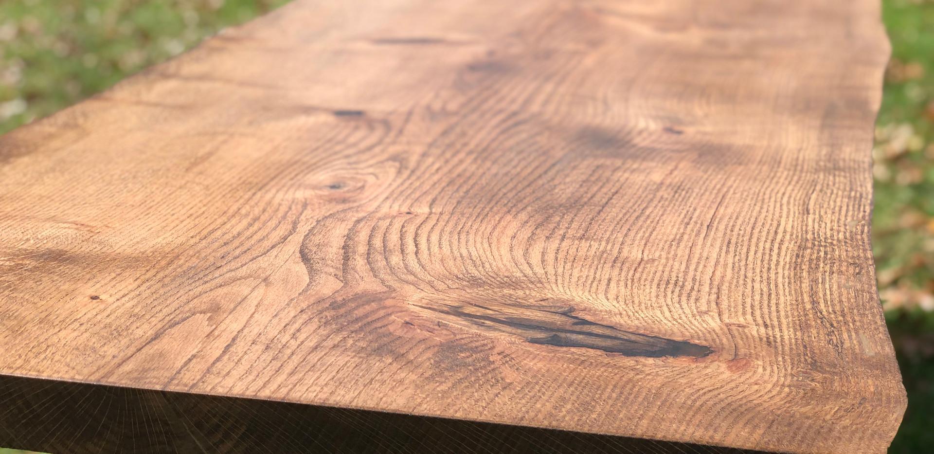 Año Nuevo II Live Edge Pin Oak farmtable