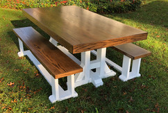 Caroline Oak Farmtable & Matching Benches
