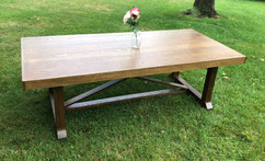 VEDIC SOLID WHITE OAK FARMHOUSE TABLE